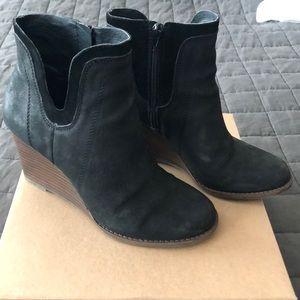 Lucky Brand Lk-Yenata black ankle booties sz 8.5